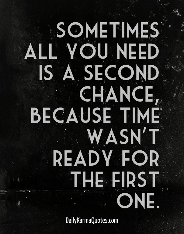 How to give someone a second chance