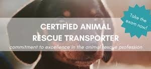 Certified Animal Rescue Transporter