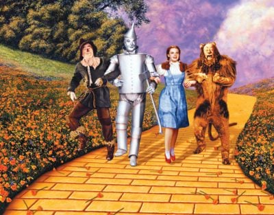 Wizard of Oz, yellow brick road