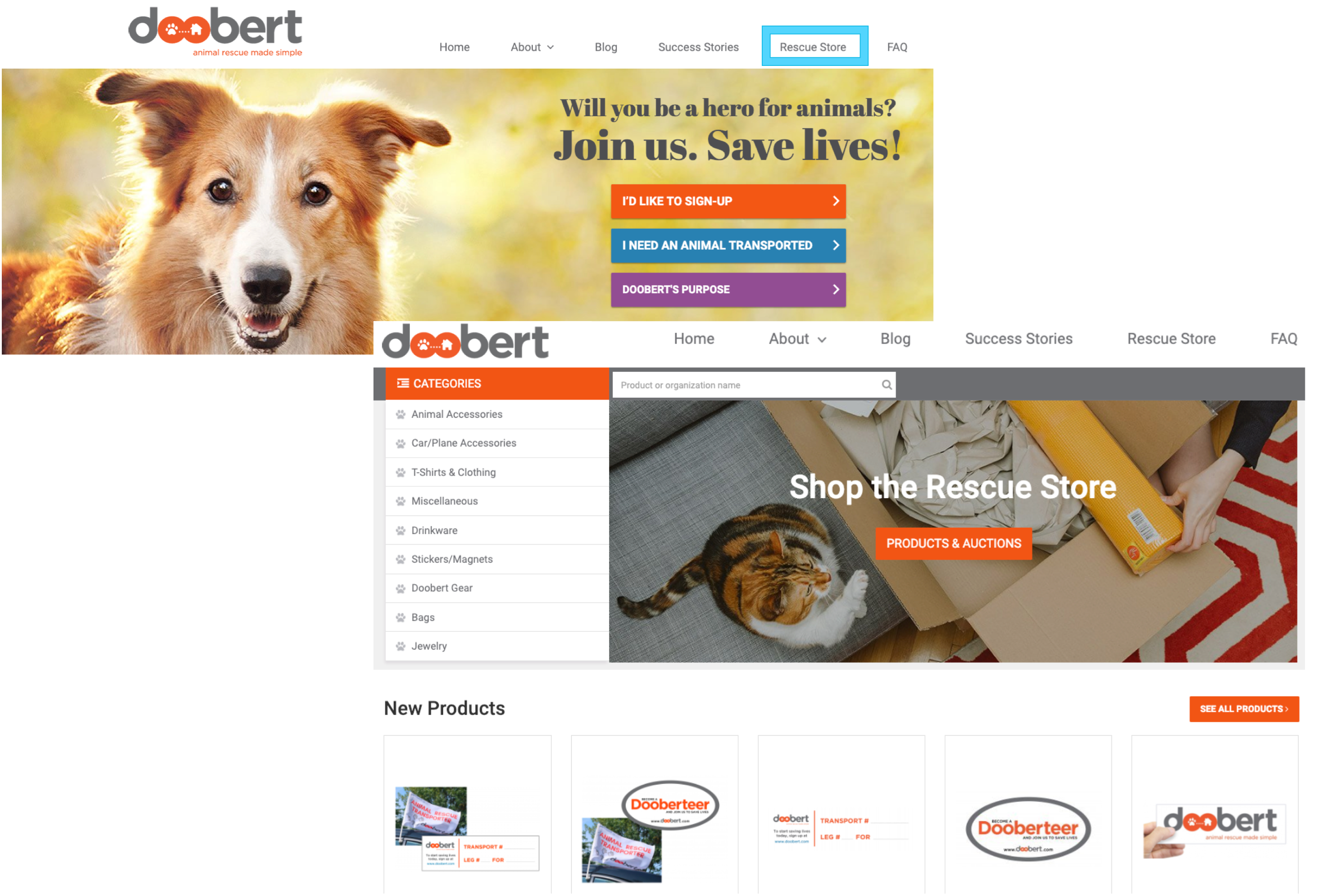 Doobert Rescue Store