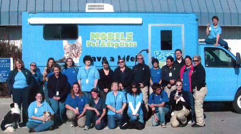 mobile pet adoption team