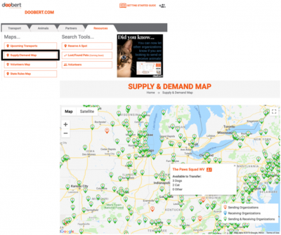 Supply & Demand Map