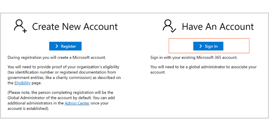 free email hosting for nonprofits - Microsoft account sign in