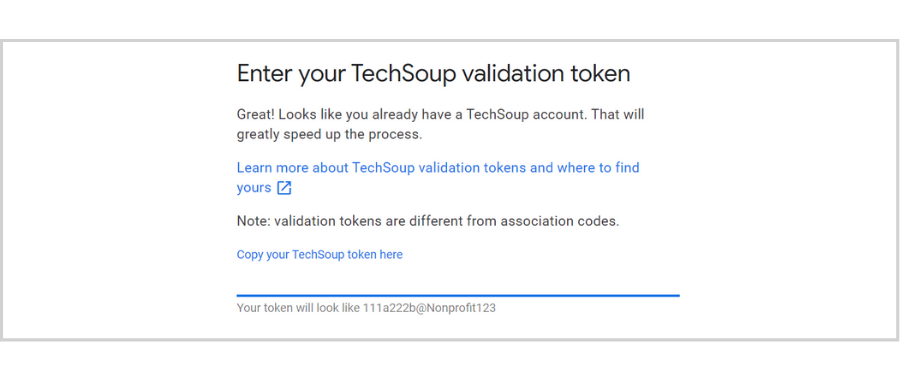 free email hosting for nonprofits - Google for nonprofits TechSoup validation token