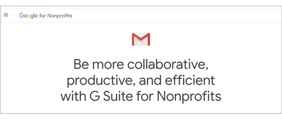 free email hosting for nonprofits - Google for nonprofits