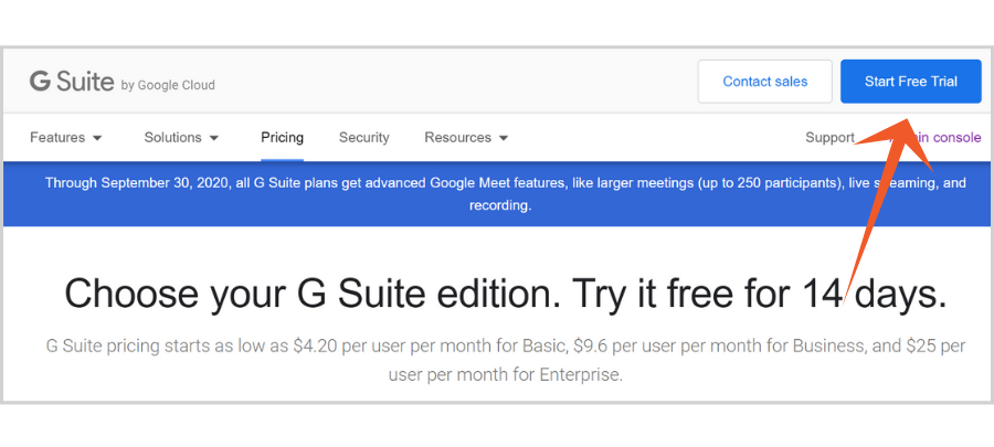 free email hosting for nonprofits - G Suite Basic free trial