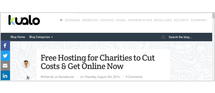 Beginner-Friendly Tools to Build Your Website - Kualo free hosting for nonprofits