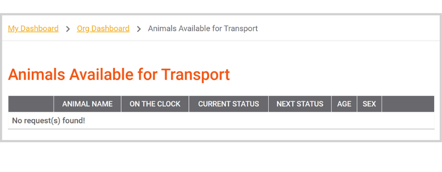 Finding Partners on Doobert: Managing Animal Transport Requests