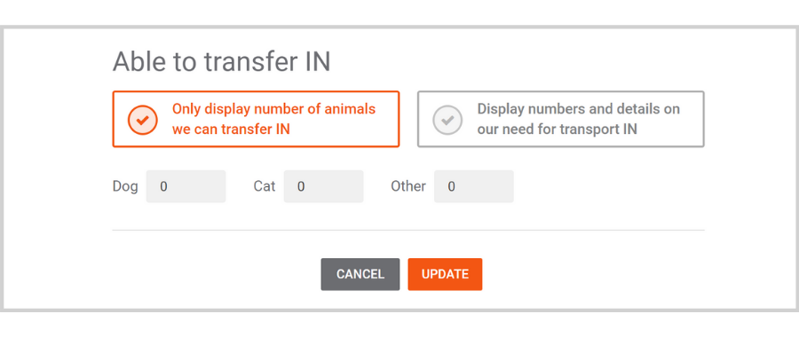 Finding Partners on Doobert: Managing Animal Transfers