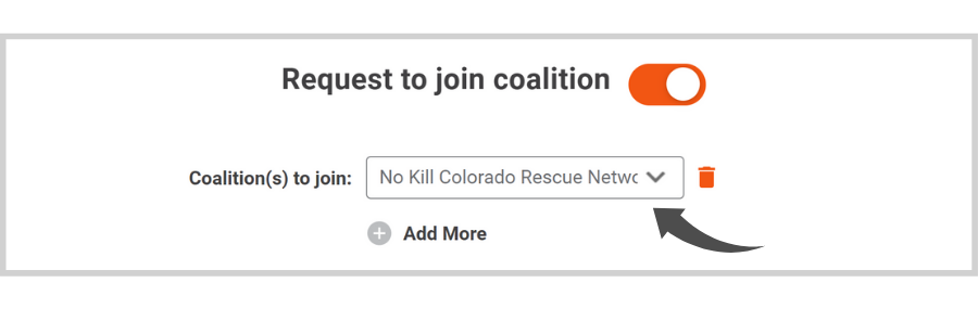Request to Join A Coalition on Doobert - select coalition