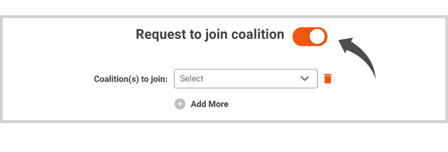 Request to Join A Coalition on Doobert - click request to join coalition