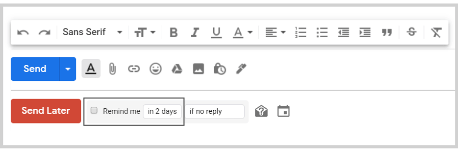 Boomerang for Gmail features