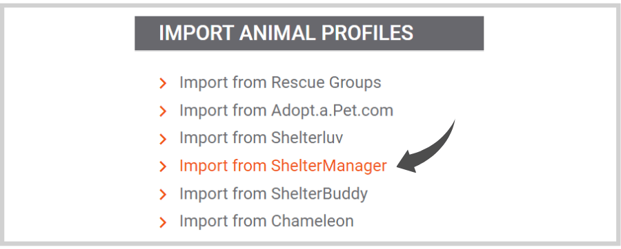 How to import animal profiles from sheltermanager to doobert