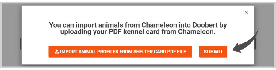 How to import animal profiles from Chameleon to Doobert