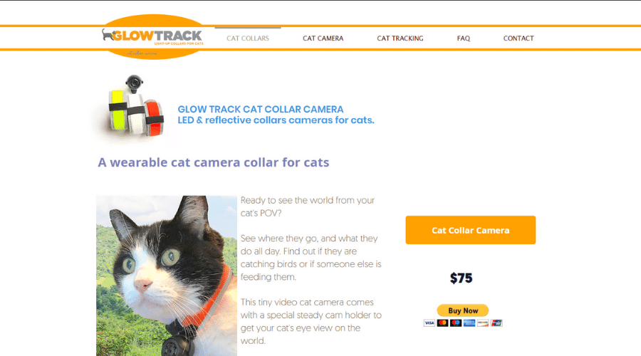 Cat Camera Collars That Make Your Cats Easy to Find Glow Track Collars