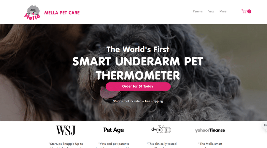 The World's First Smart Pet Thermometer Mella Pet Care