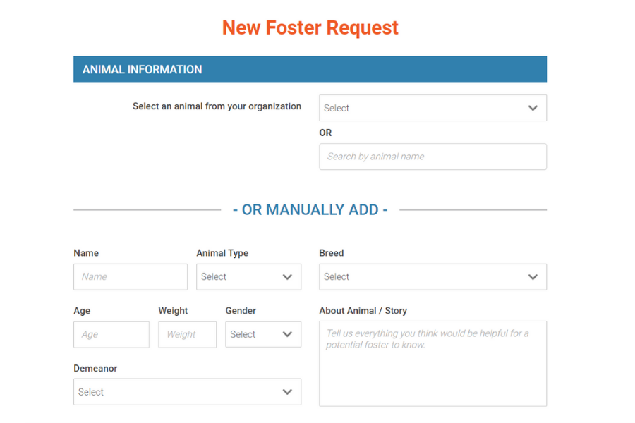 Foster request